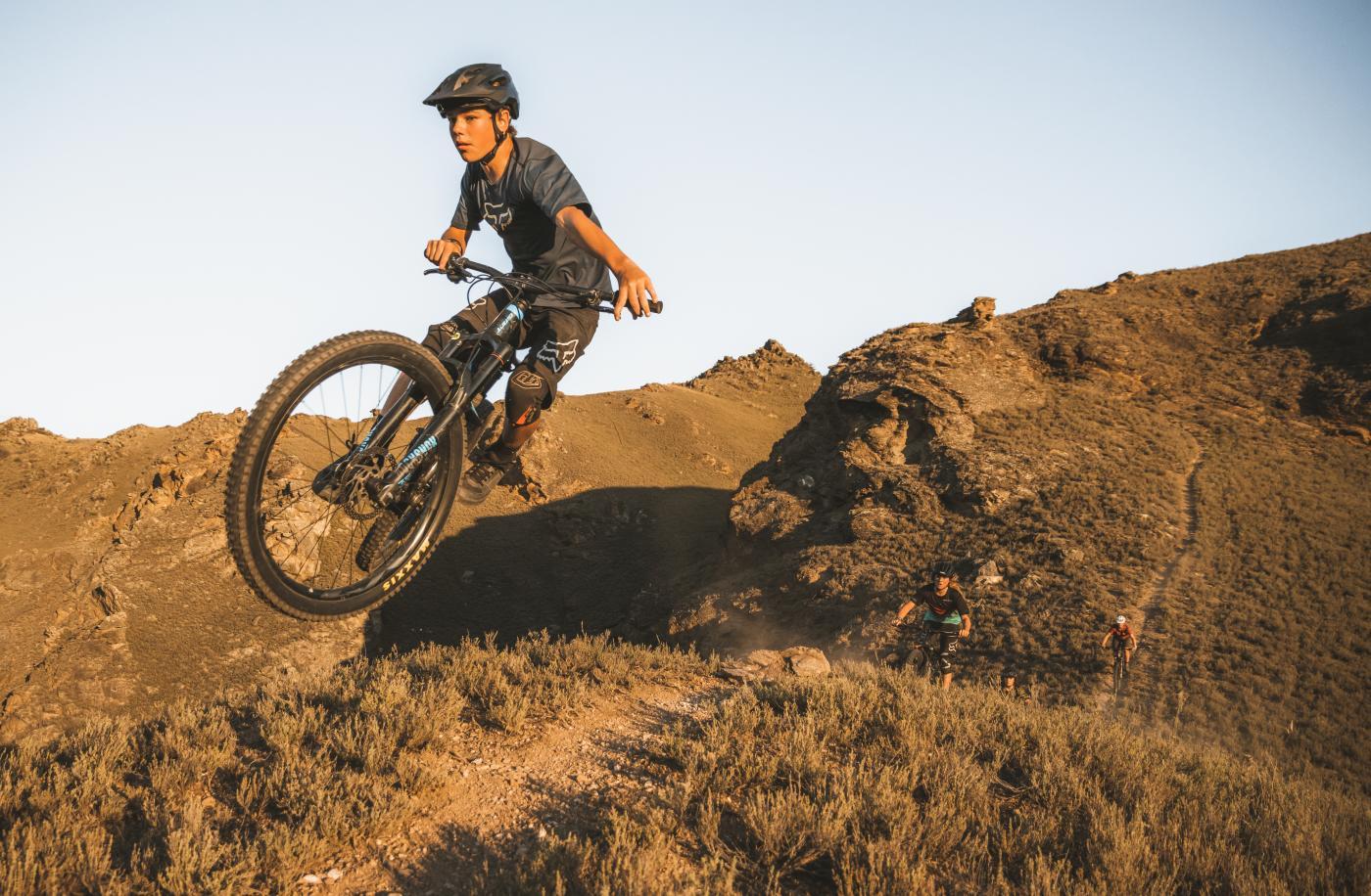 Mountain Biker at Matangi Mountain Bike Park