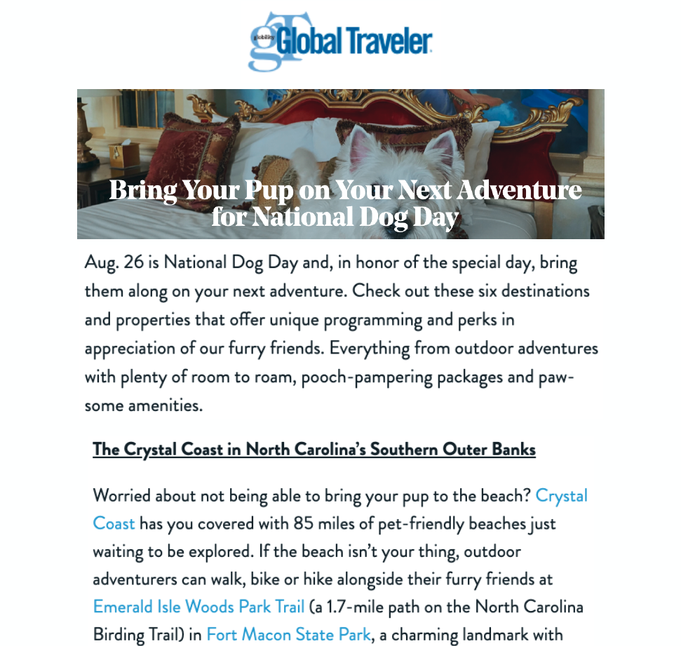 Global Traveler Press Release