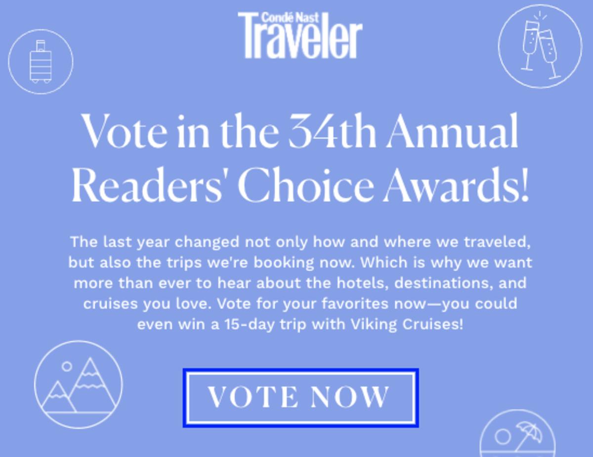Conde Nast Readers' Choice 2021