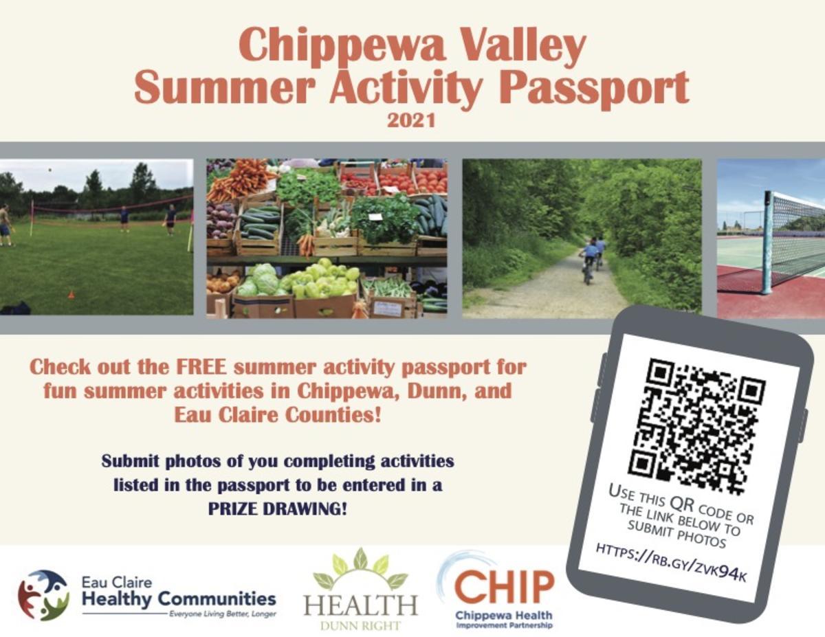 Graphic of Chippewa Valley Summer Activity Passport 2021