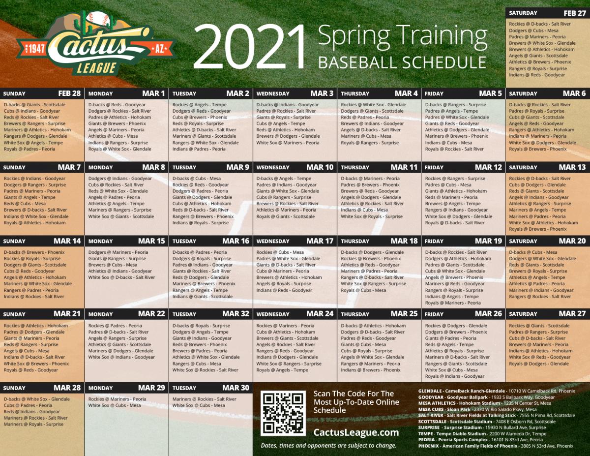 The 2021 season of Cactus League Spring Training