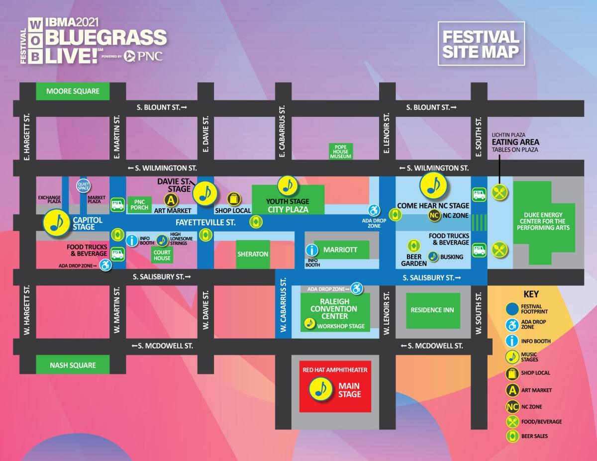 Bluegrass Live! Map