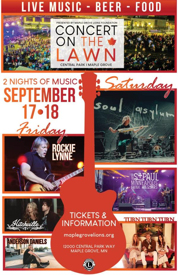 Concert on The Lawn poster 2021