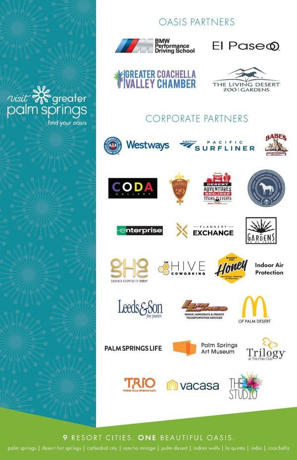 Logos of Greater Palm Springs businesses