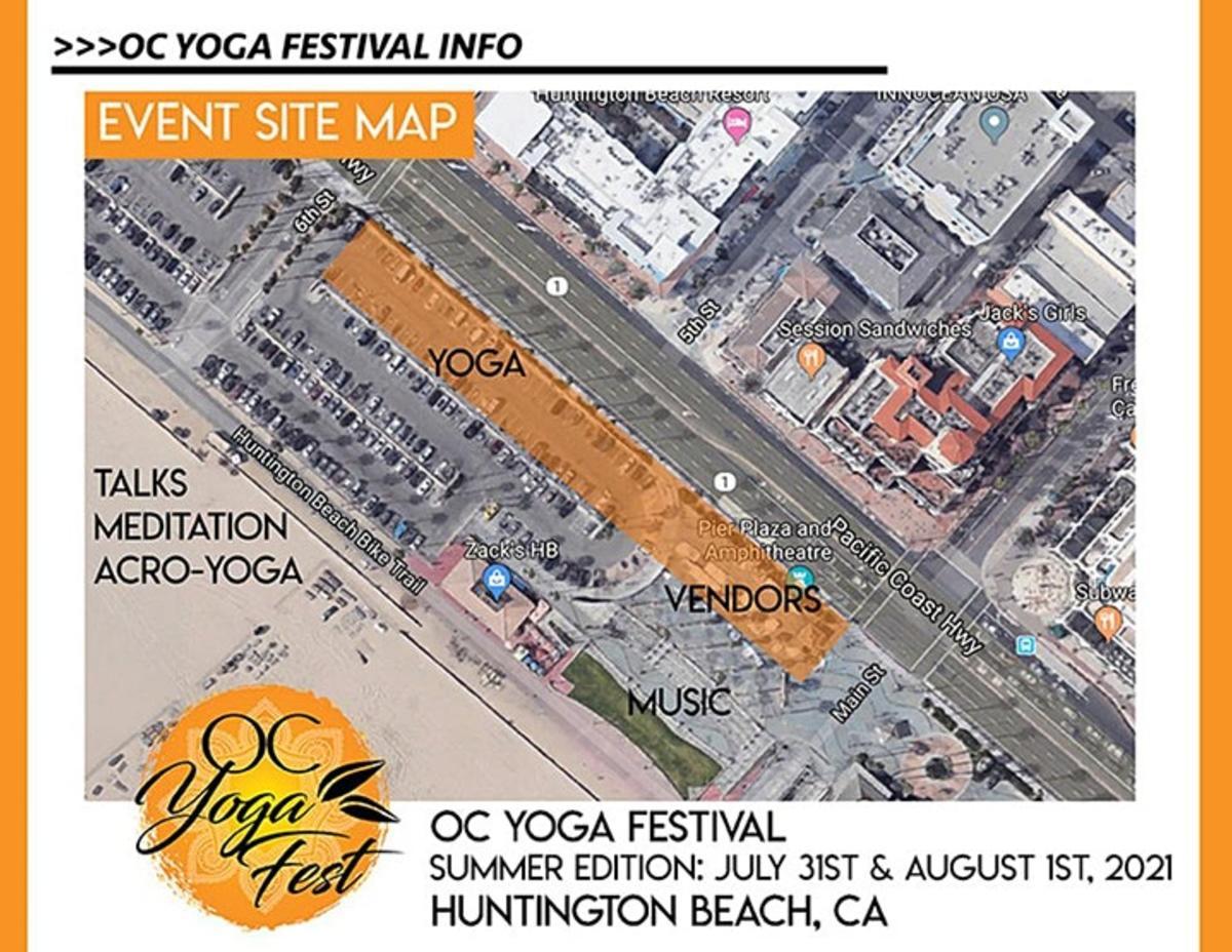 OC Yoga Festival Map