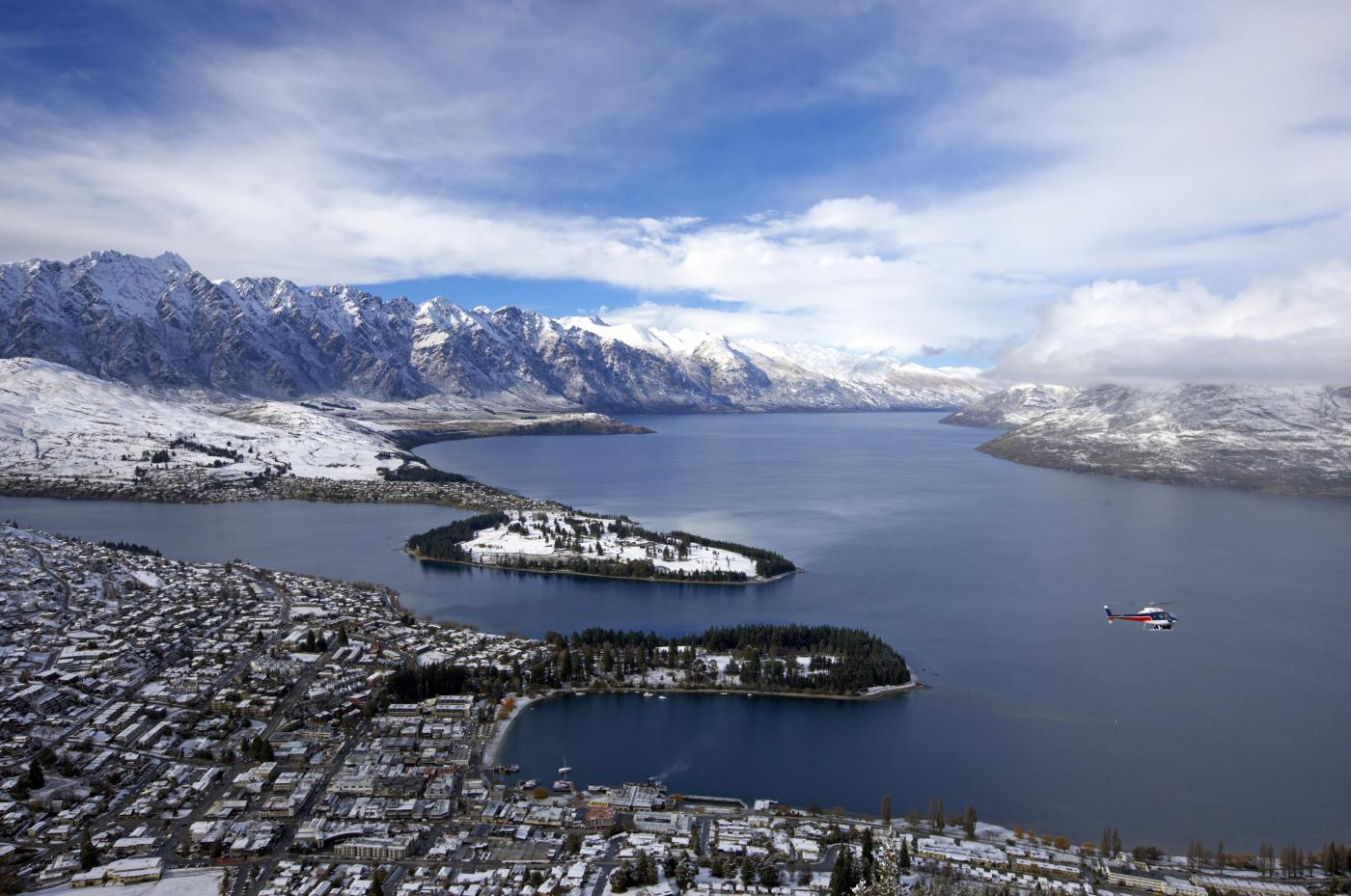 Snow covered Queenstown