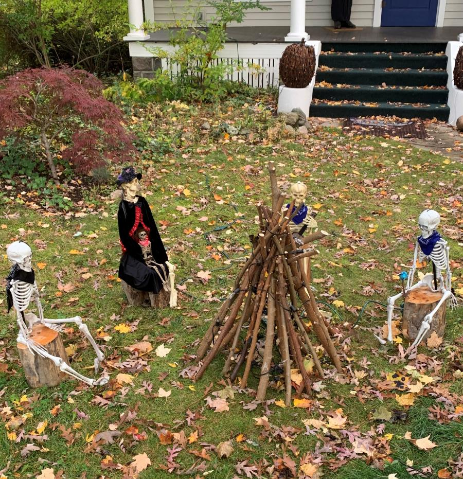 House decorated for Halloween in Traverse City's Central Neighborhood Historic Distric