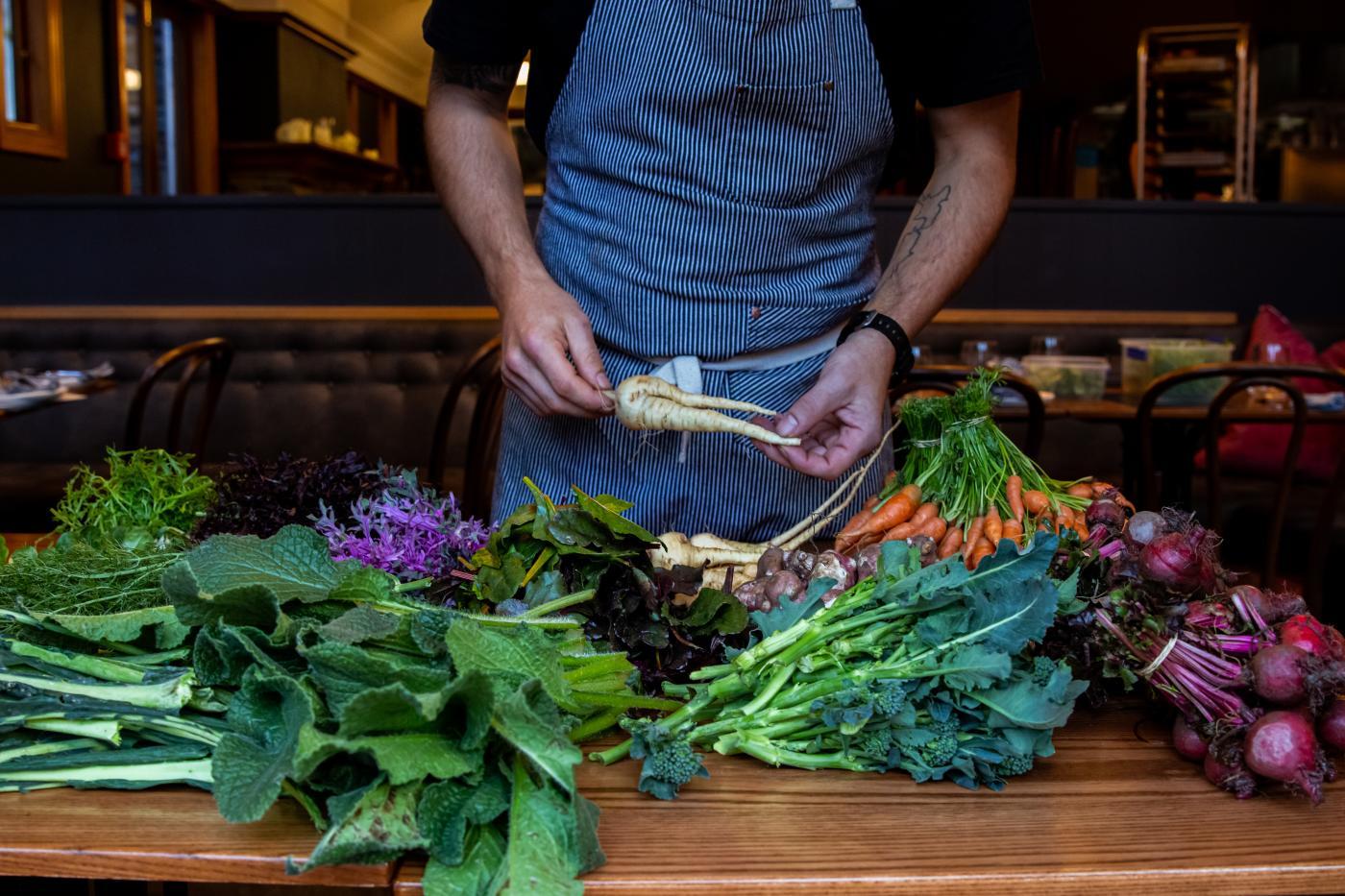 Aosta winter menu and fresh produce