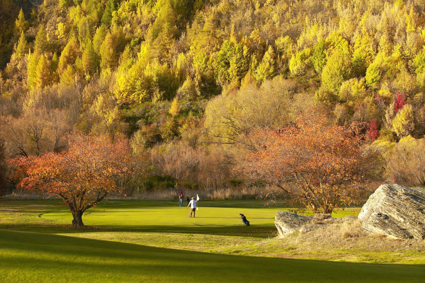 Arrowtown Golf Course in Autumn