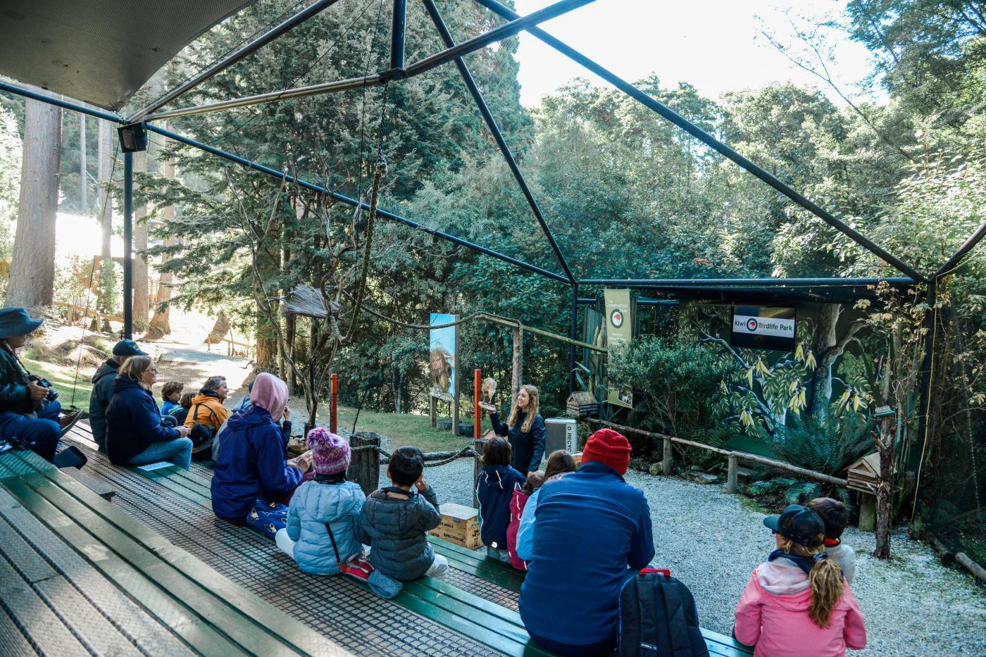 Conservation show at Kiwi Birdlife Park