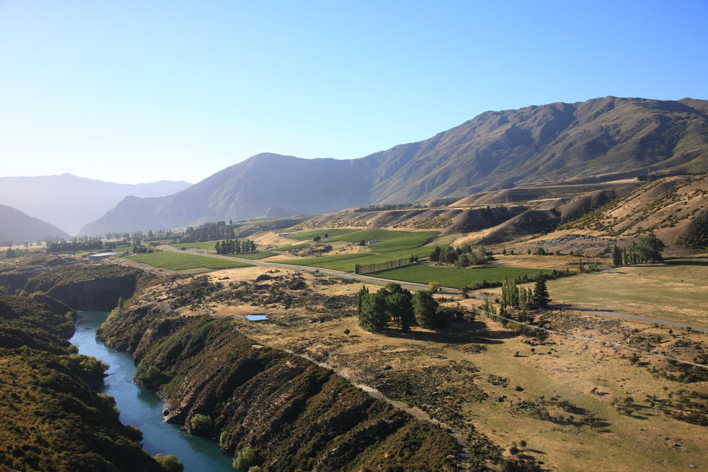 Gibbston Valley Station aerial view