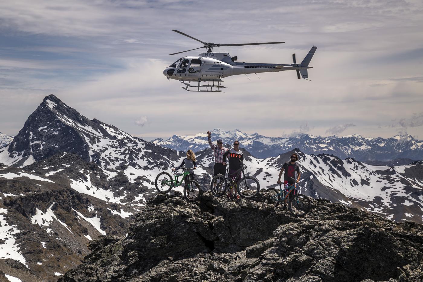 Heli-biking The Remarkables with HeliBikeNZ