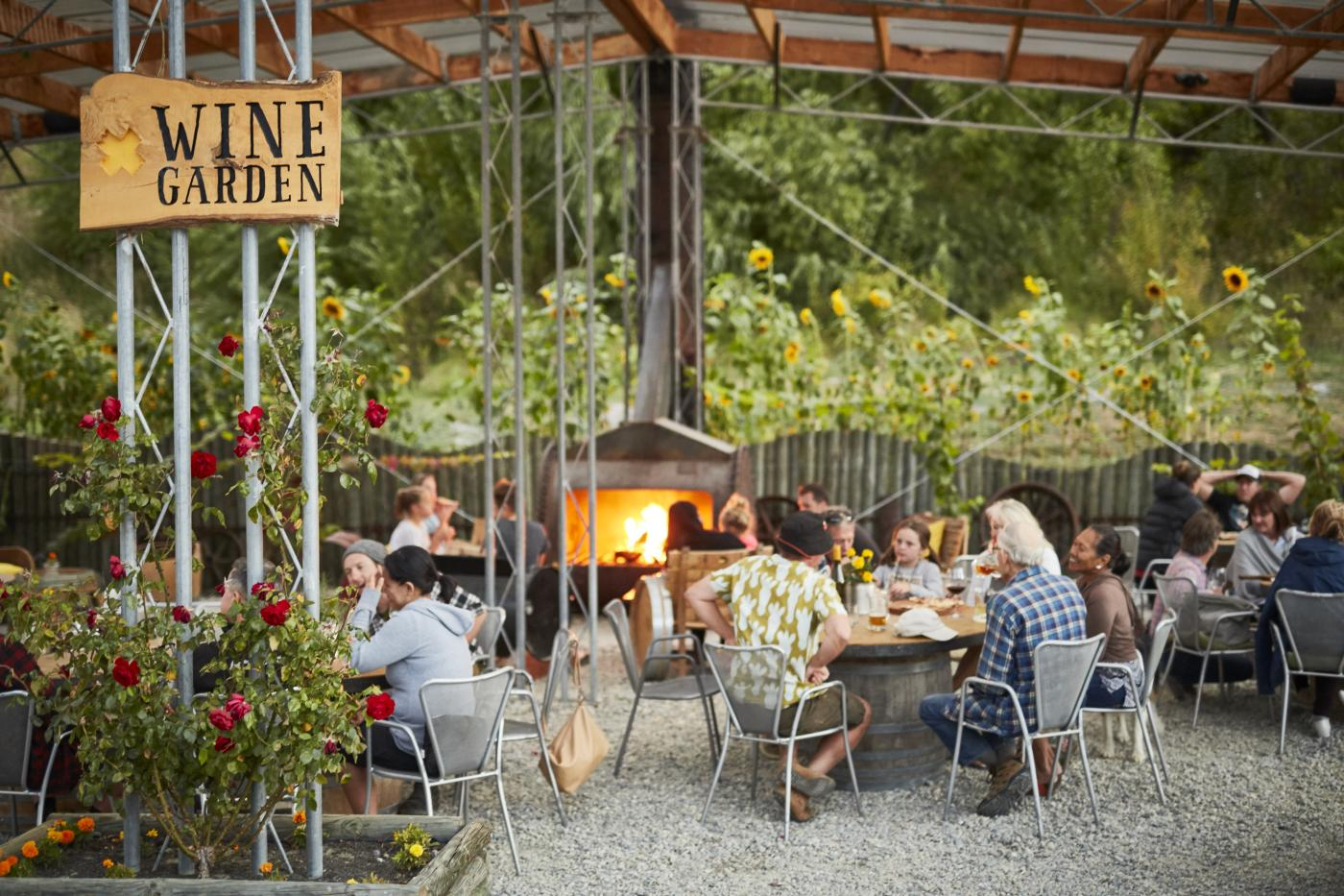 Kinross wine garden and outdoor dining