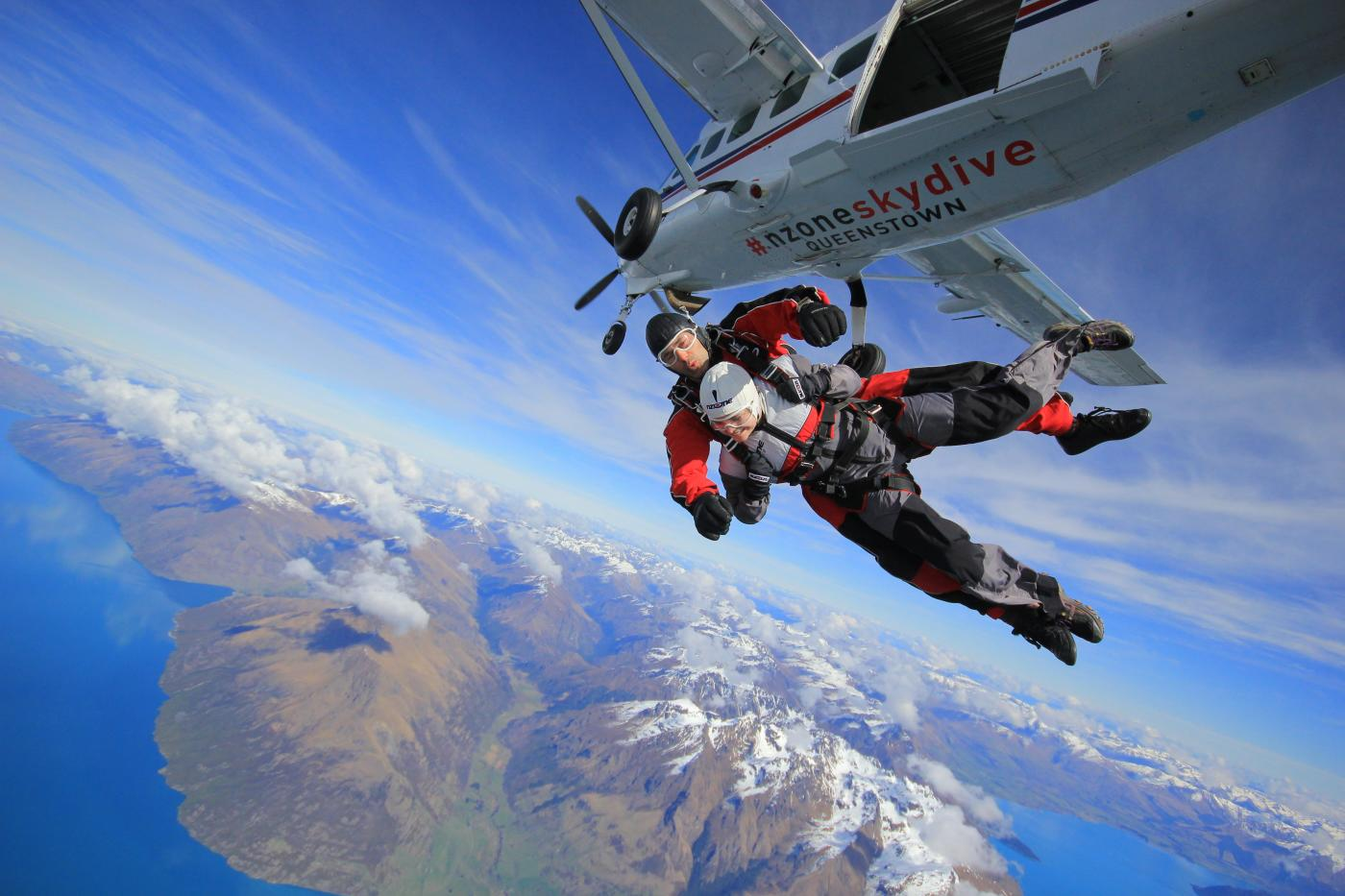 Tandem Skydiving over Queenstown with NZone