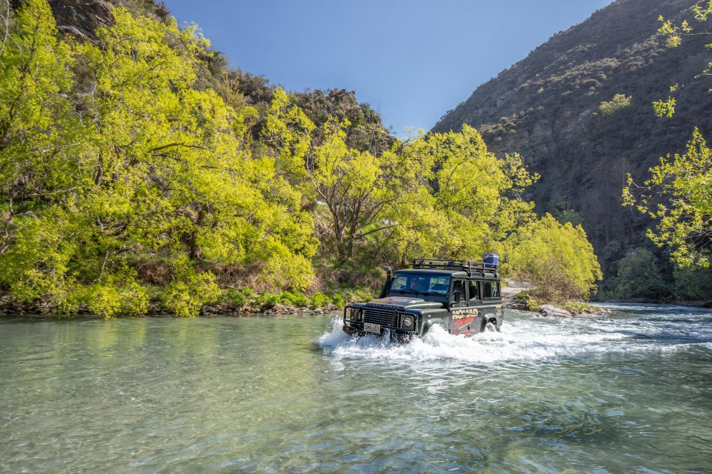 Nomad Safaris 4WD adventure river crossing