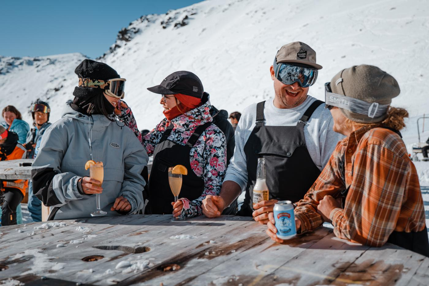 Spring Skiiers at Ice Bar, The Remarkables