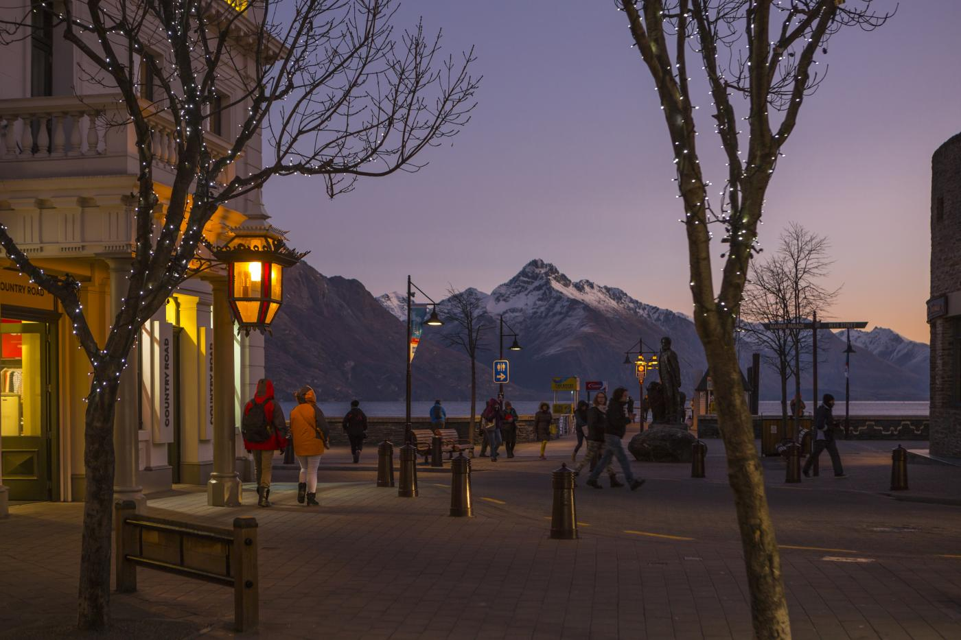 View of The Mall at Night with view of mountains