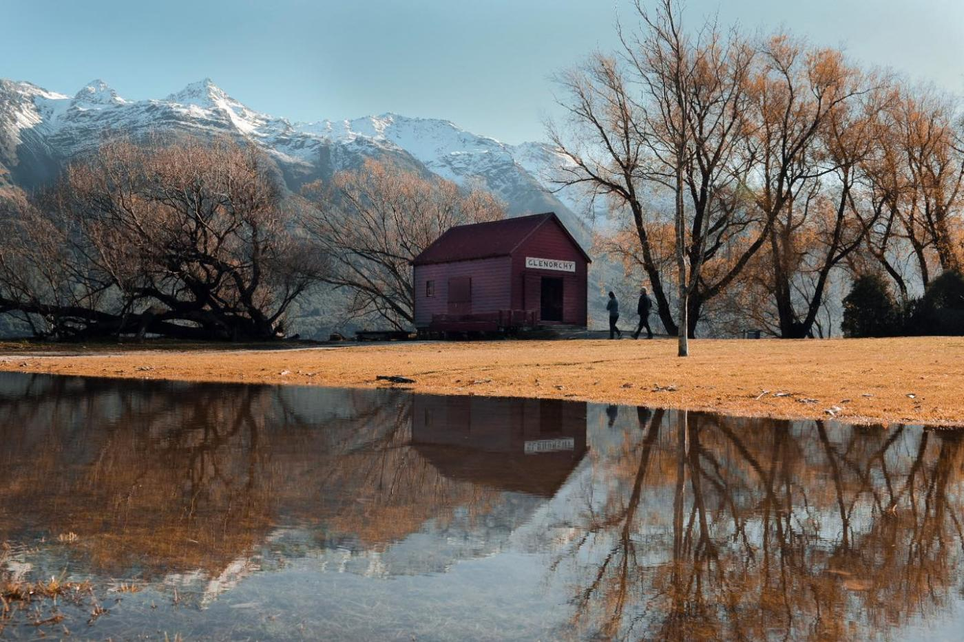 Glenorchy Red Shed in Winter
