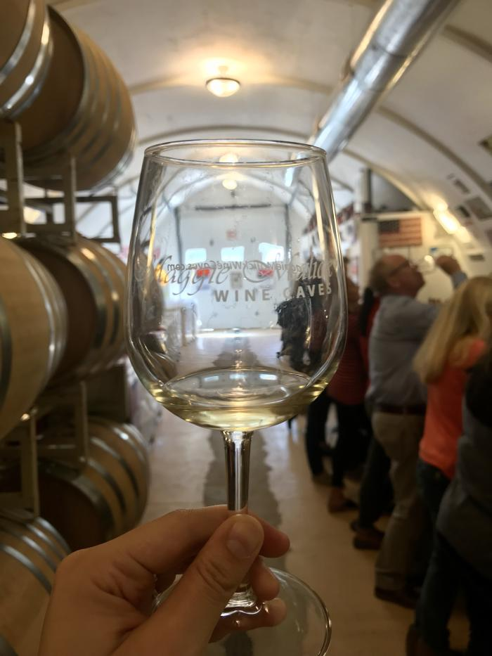 Maggie Malick Wine Caves glass