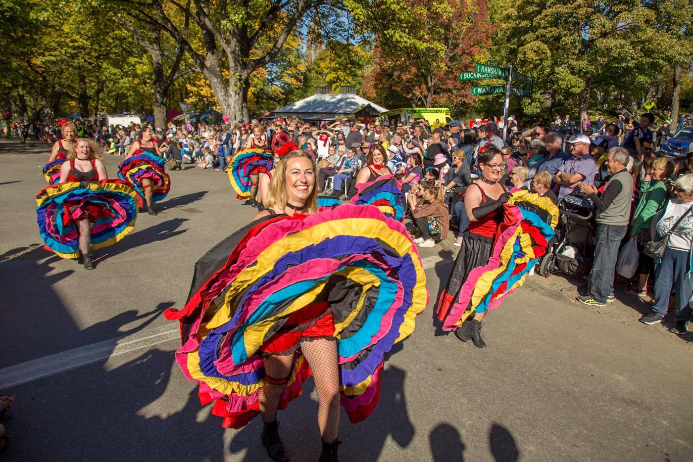 Arrowtown Autumn Festival street parade