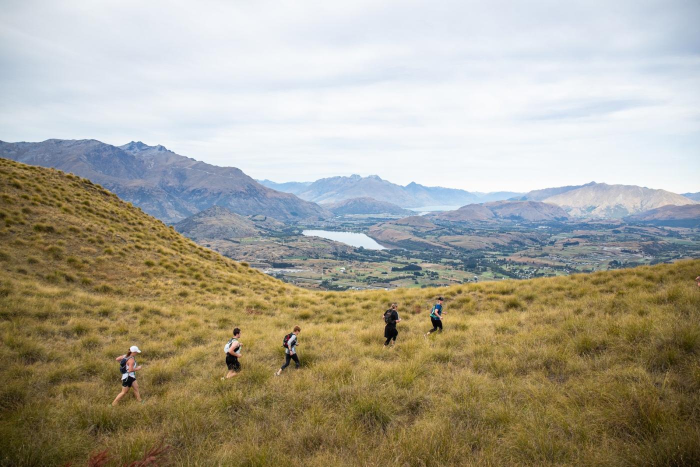 Macpac Motatapu Miners Trail overlooking Wakatipu Basin