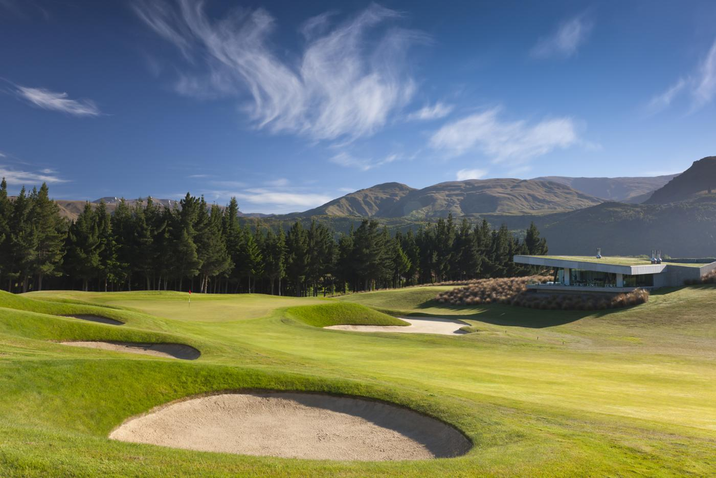 Green at The Hills Golf Club Queenstown
