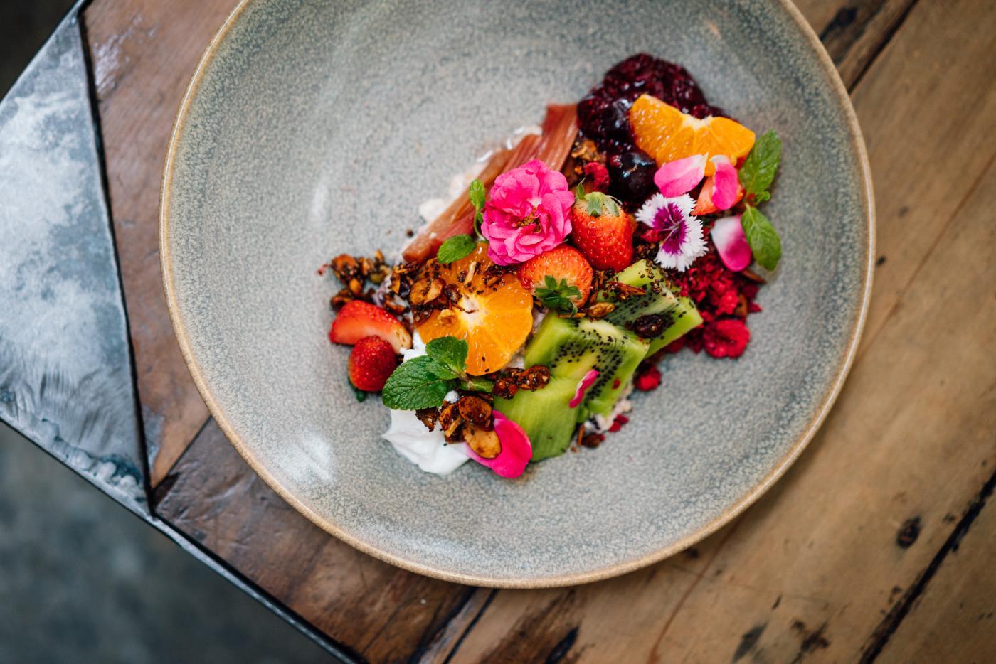 Beautiful fruit salad at Vudu Cafe, Queenstown