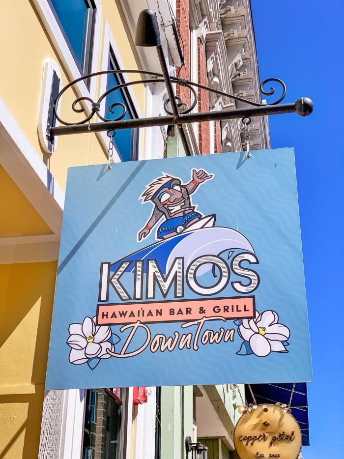 sign at Kimo's Hawaiian Grill