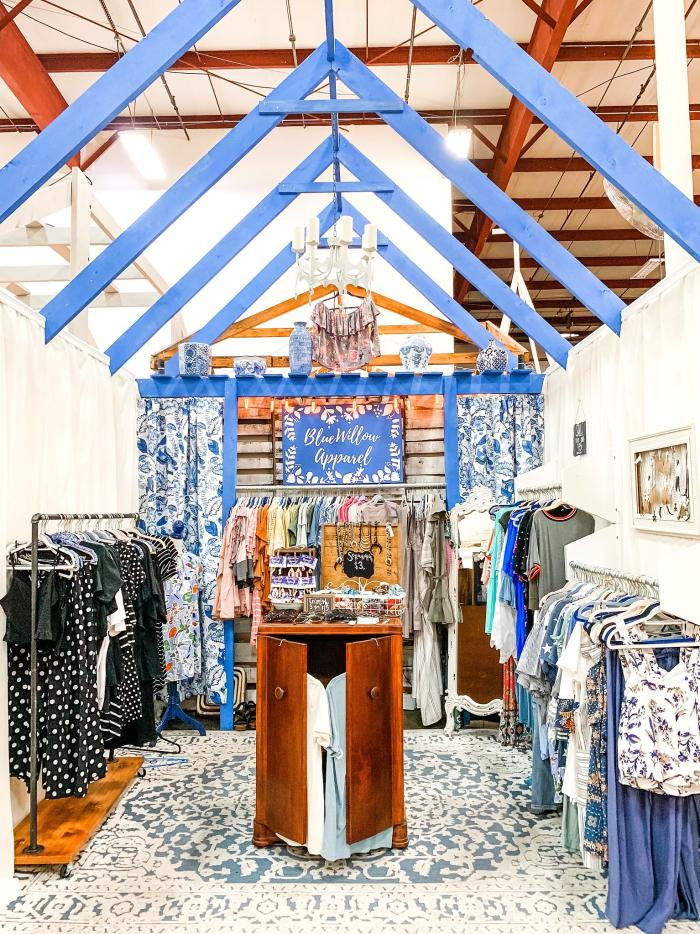 a boutique booth at Miss Lucille's Marketplace