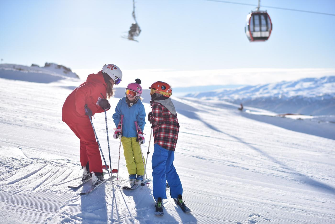 Kids lesson at Cardrona