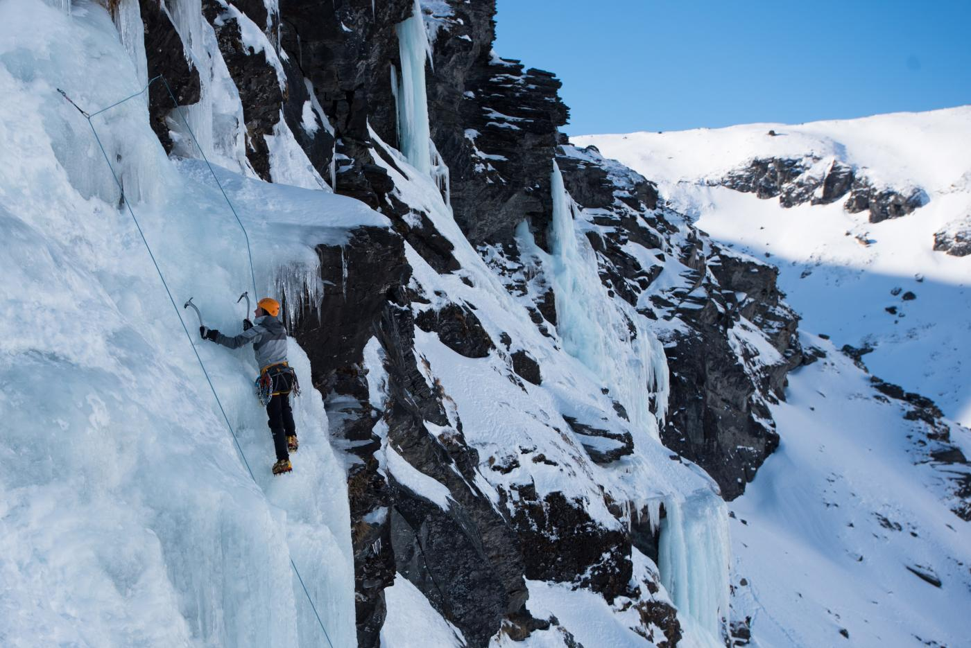 Ice Climbing on Wye Creek in Queenstown with The North Face
