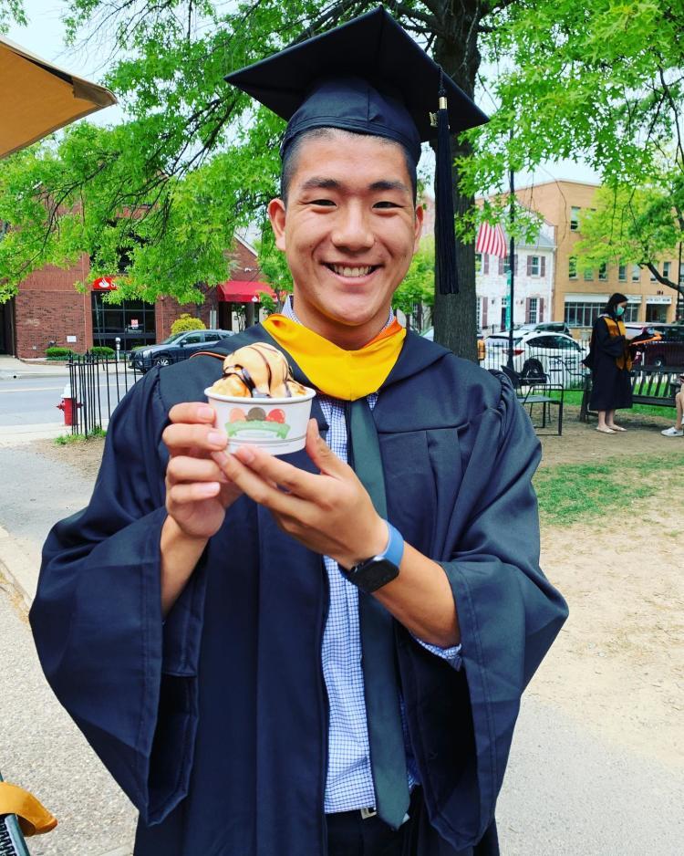 Princeton Graduate Eating Ice Cream
