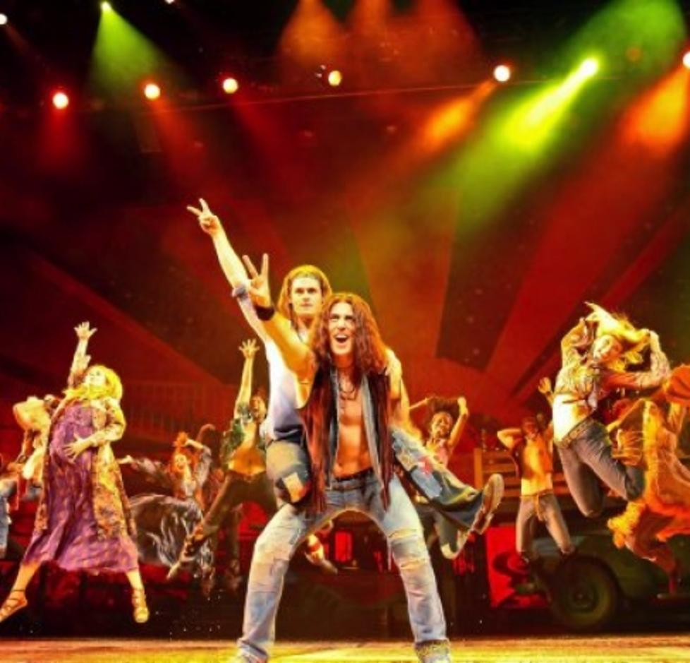 Performers of Hair the Broadway in Scranton Musical