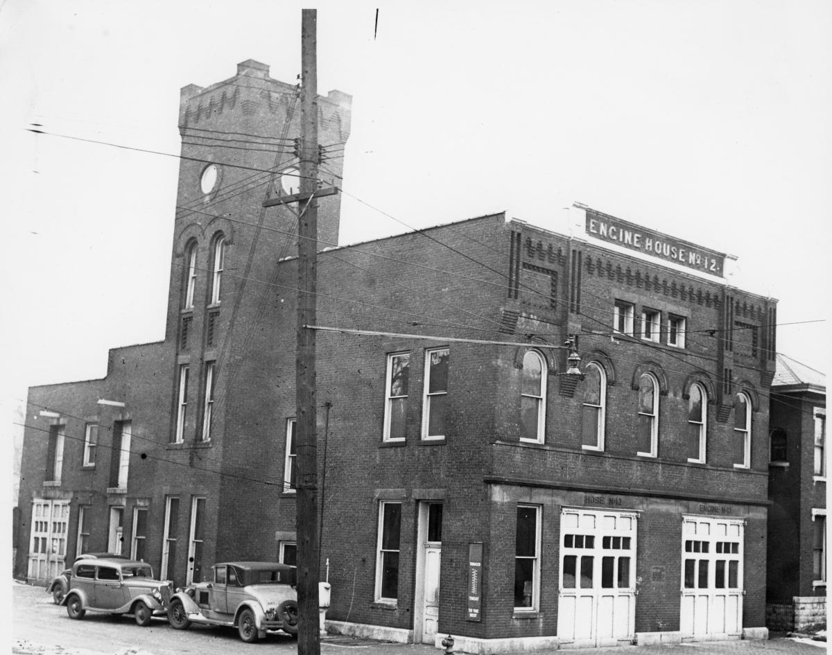 Original Engine House #12, now home to Gemut Biergarten