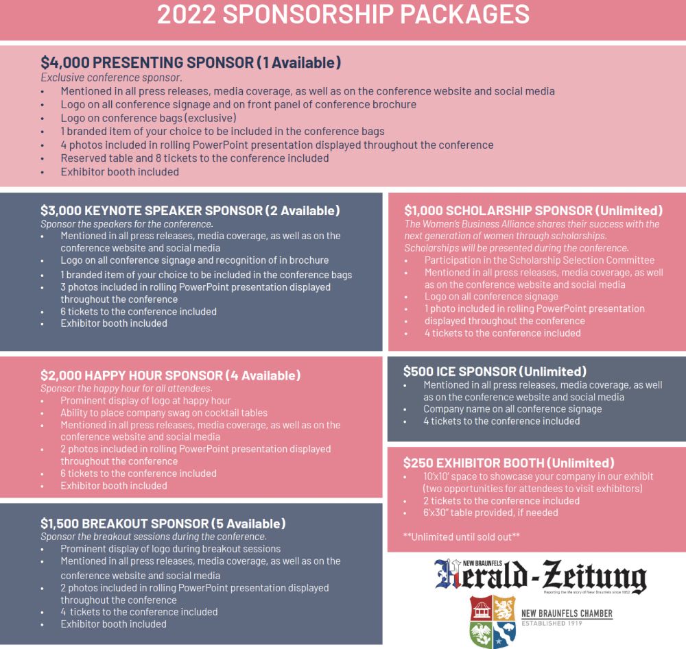 WBA Conference Sponsorships