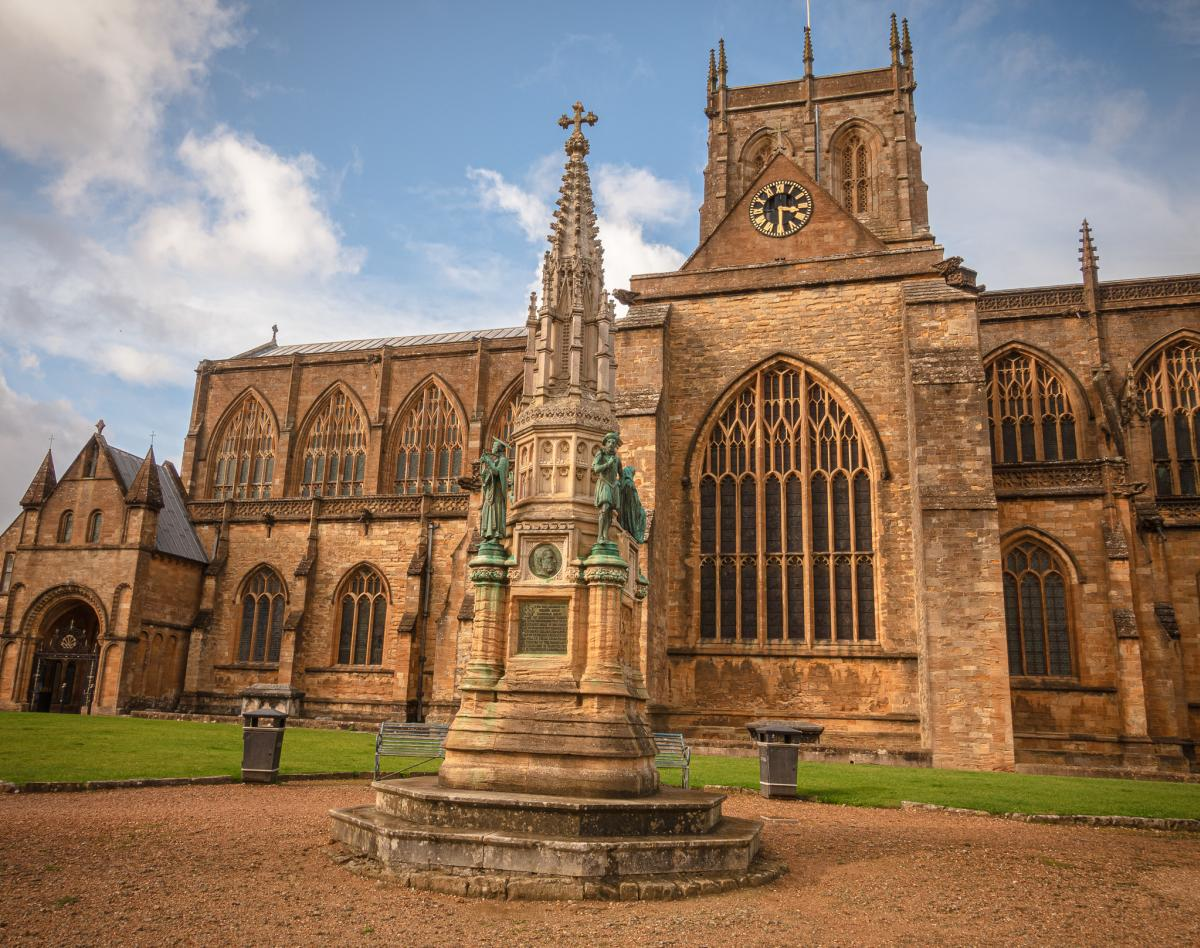 Exterior of Sherborne Abbey