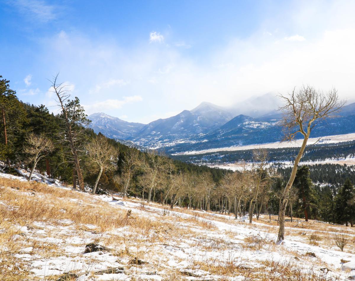rocky mountain national park january winter