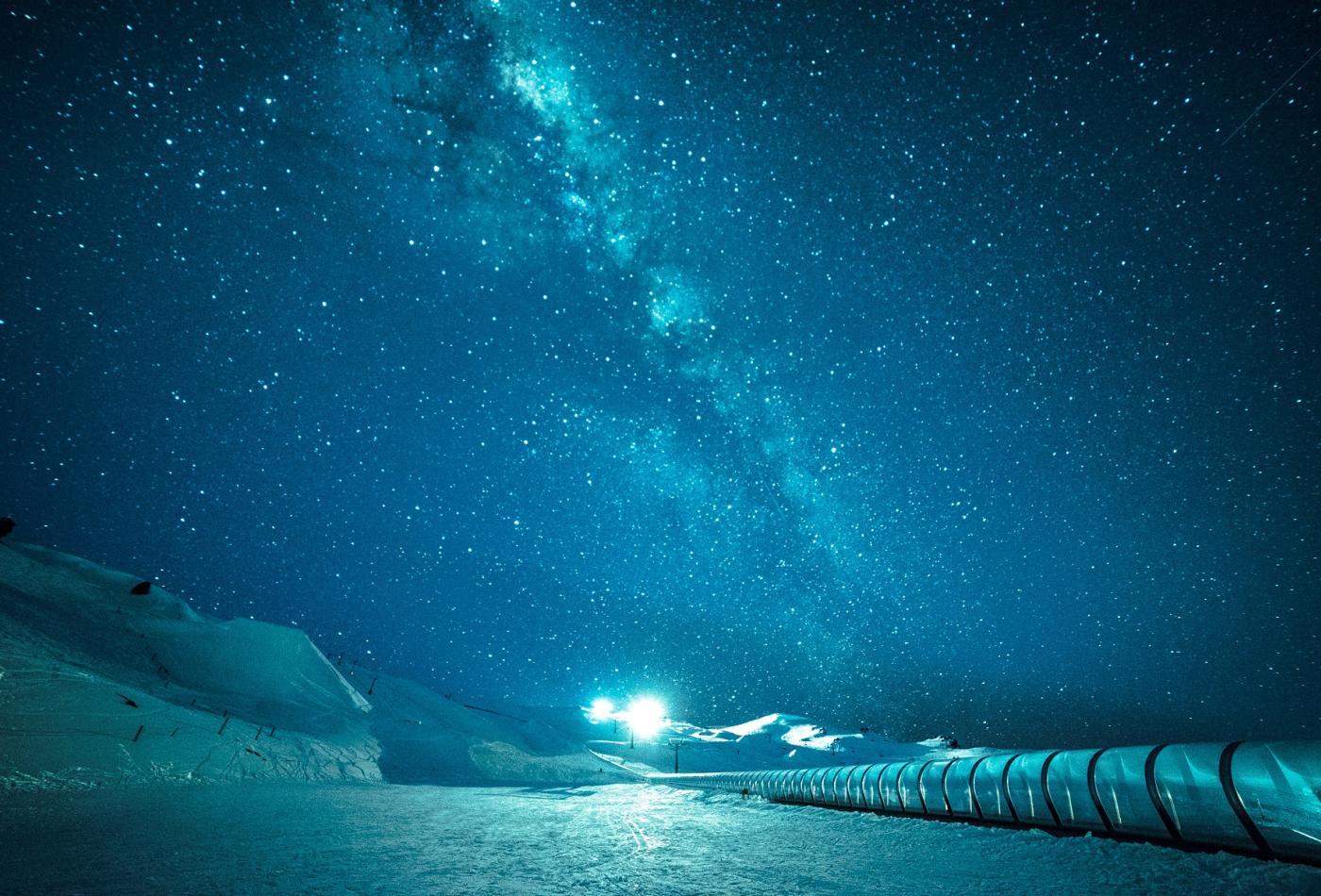 Milky Way over Cardrona ski field