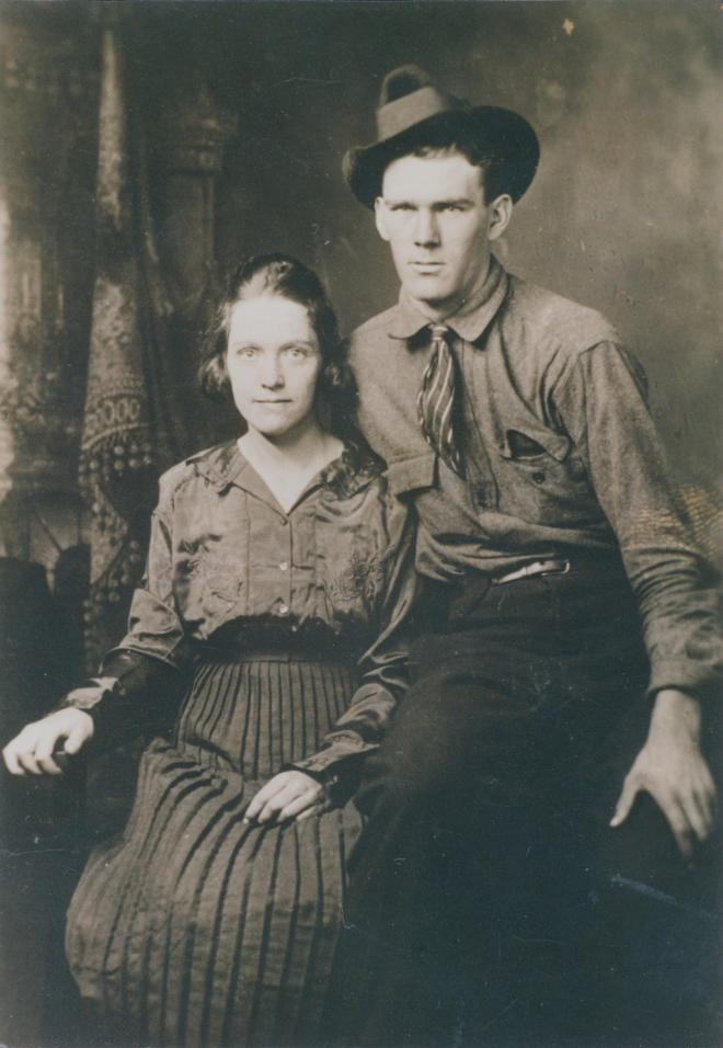 Moonshine Conspiracy of 1935 - Franklin County, Virginia - Black and white photo of Grandpap Peg.
