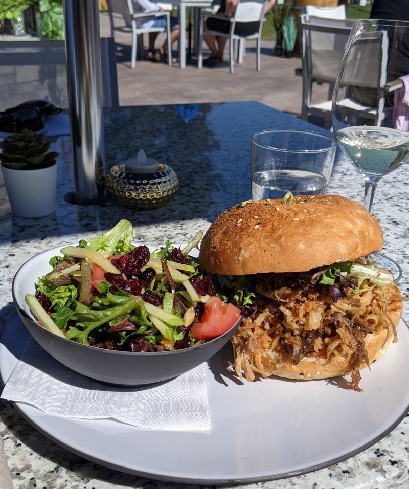 Frind Winery (Annie's Bistro) Braised Pork Sandwich