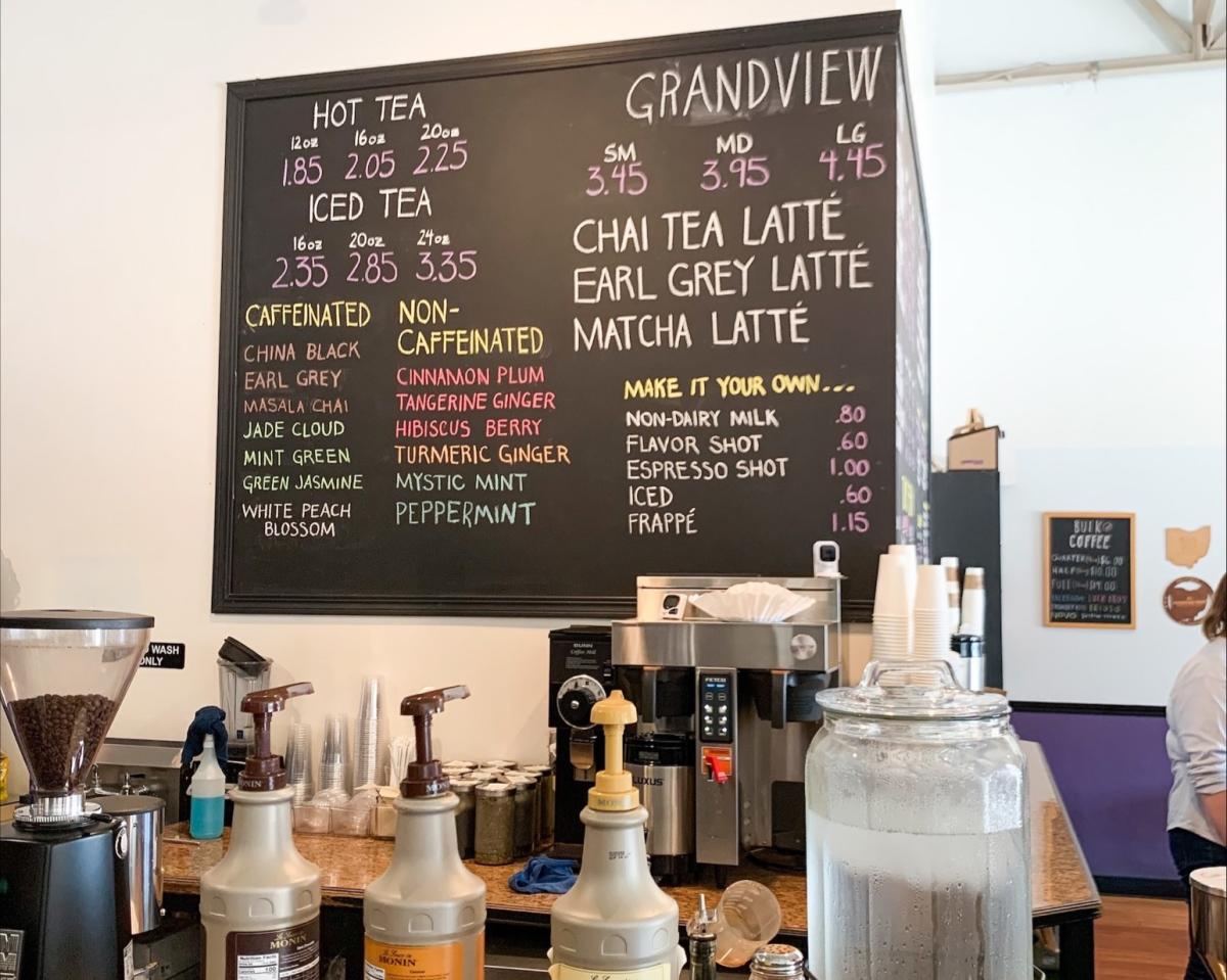 Coffee sign at Grandview Grind