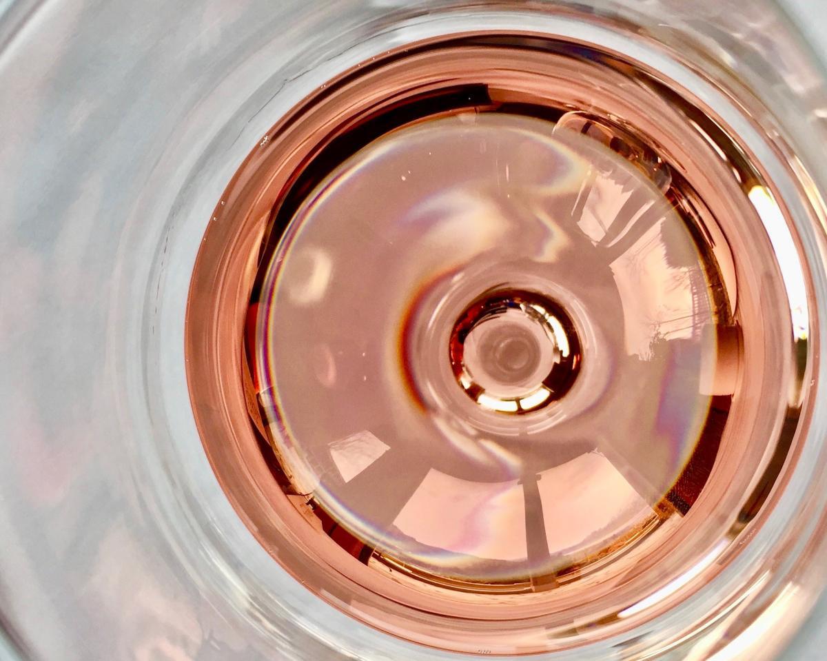 Rose in Wine Glass Close up