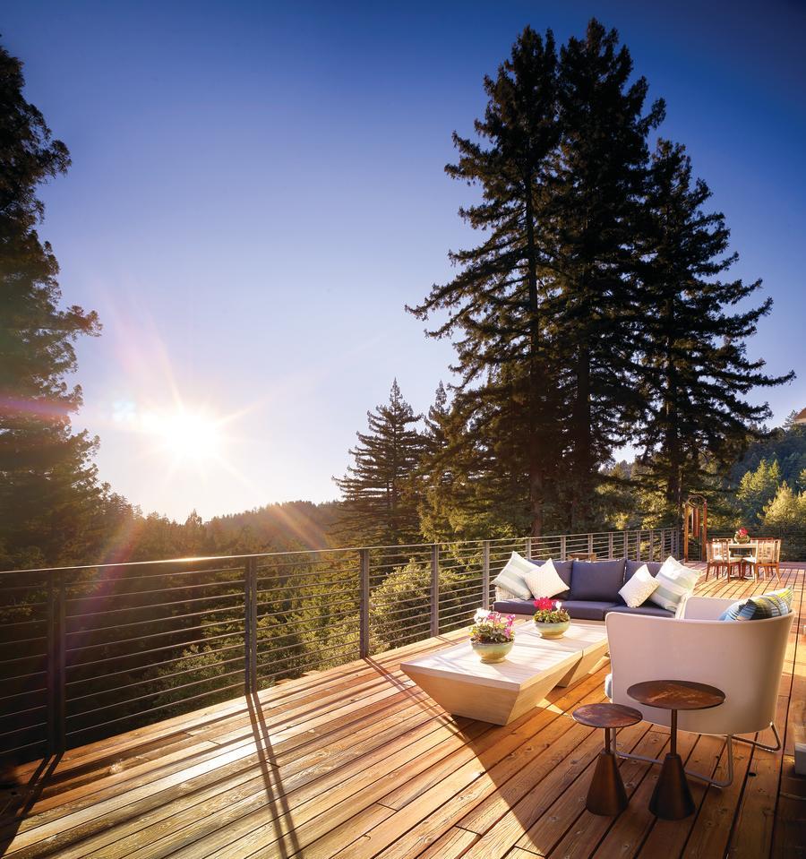 Loft patio at Canyon Ranch Woodside, CA