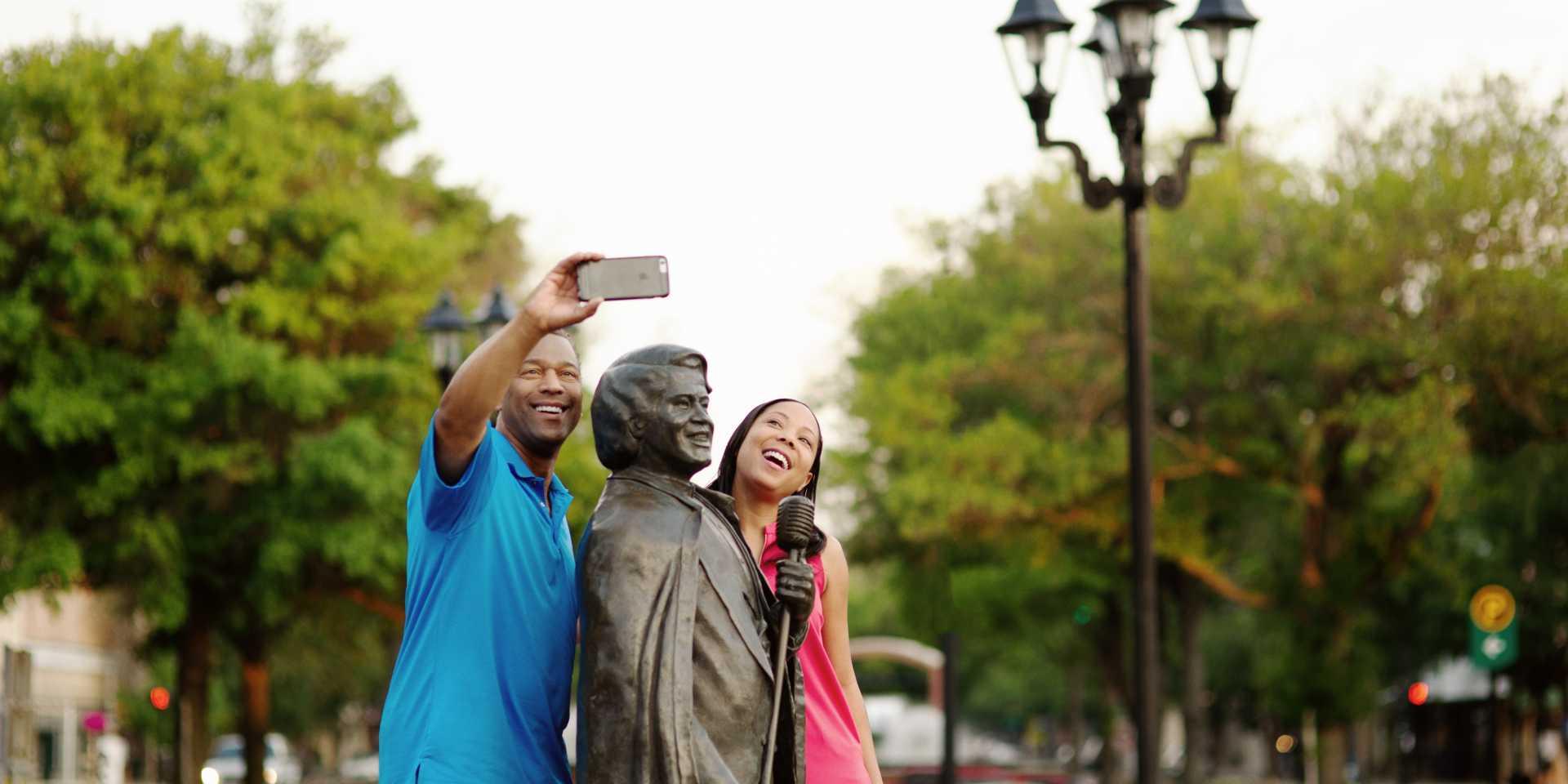 James Brown Couple Selfie