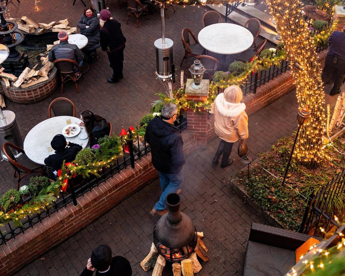 Lindey's patio in winter