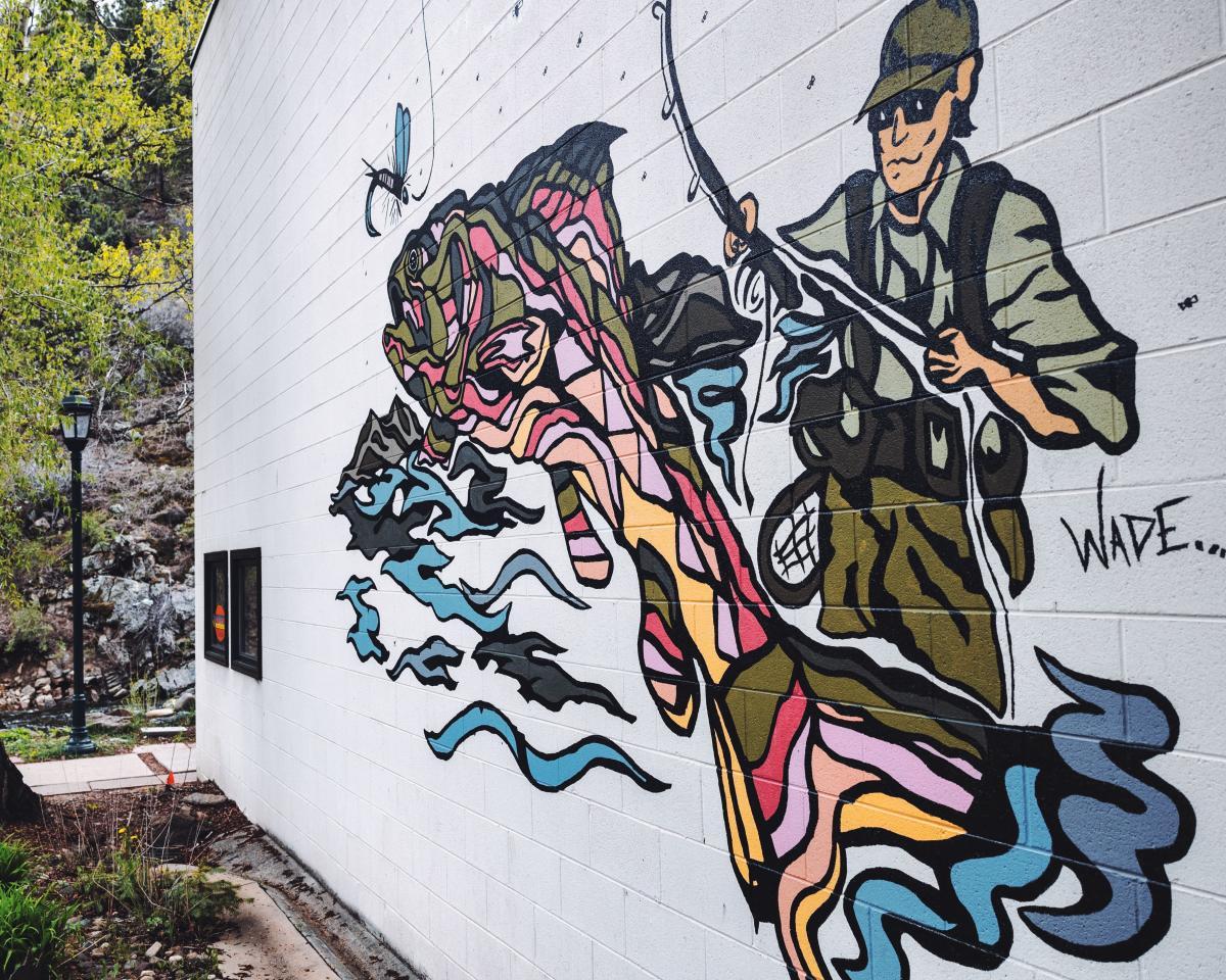 riverwalk mural kirks flyshop