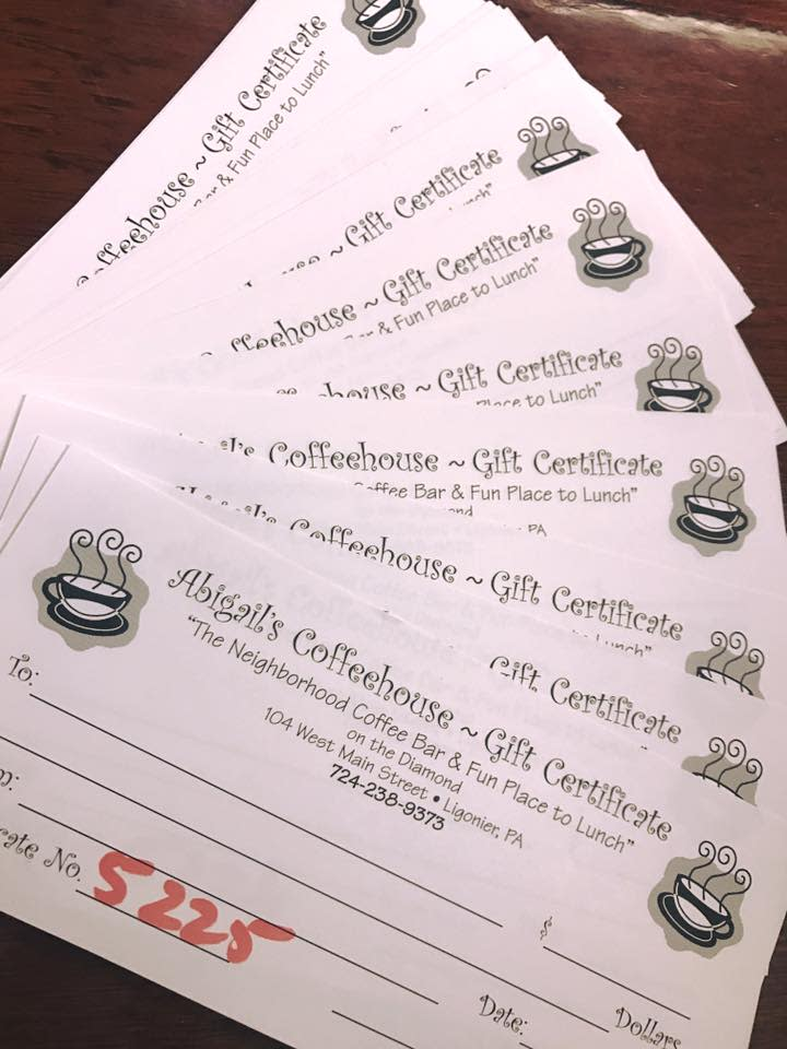 Abigail's Gift Cards