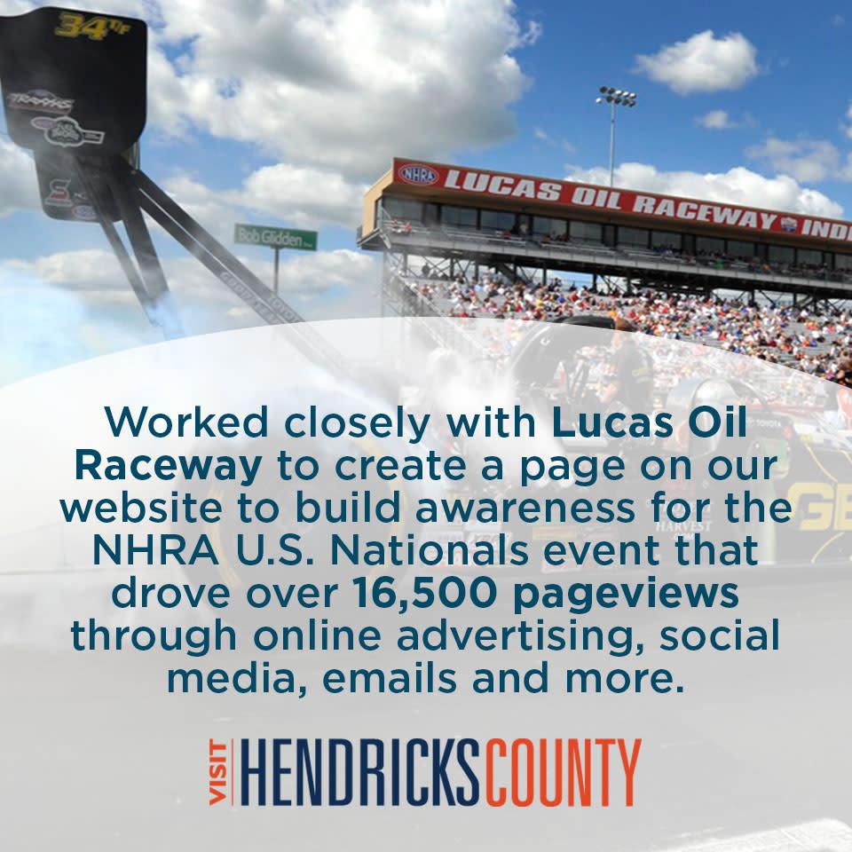 How Visit Hendricks County Helped Lucas Oil Raceway