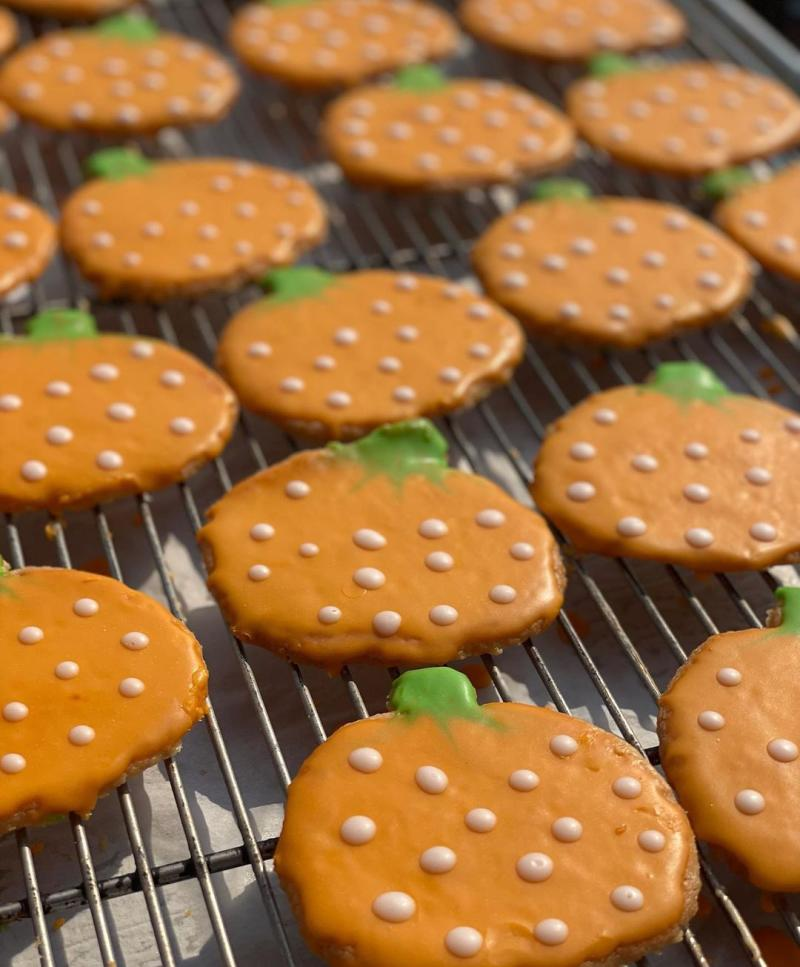 Pumpkin cookies from Sweet Elena's Bakery