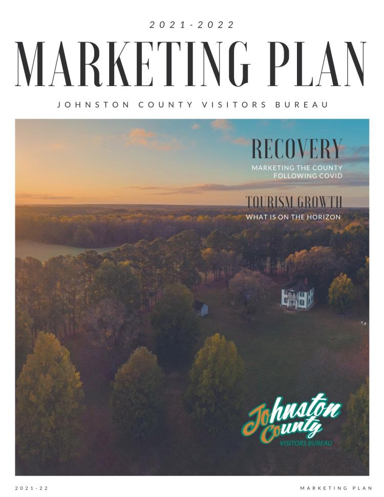 2021-22 Marketing Plan Cover for the Johnston County Visitors Bureau.